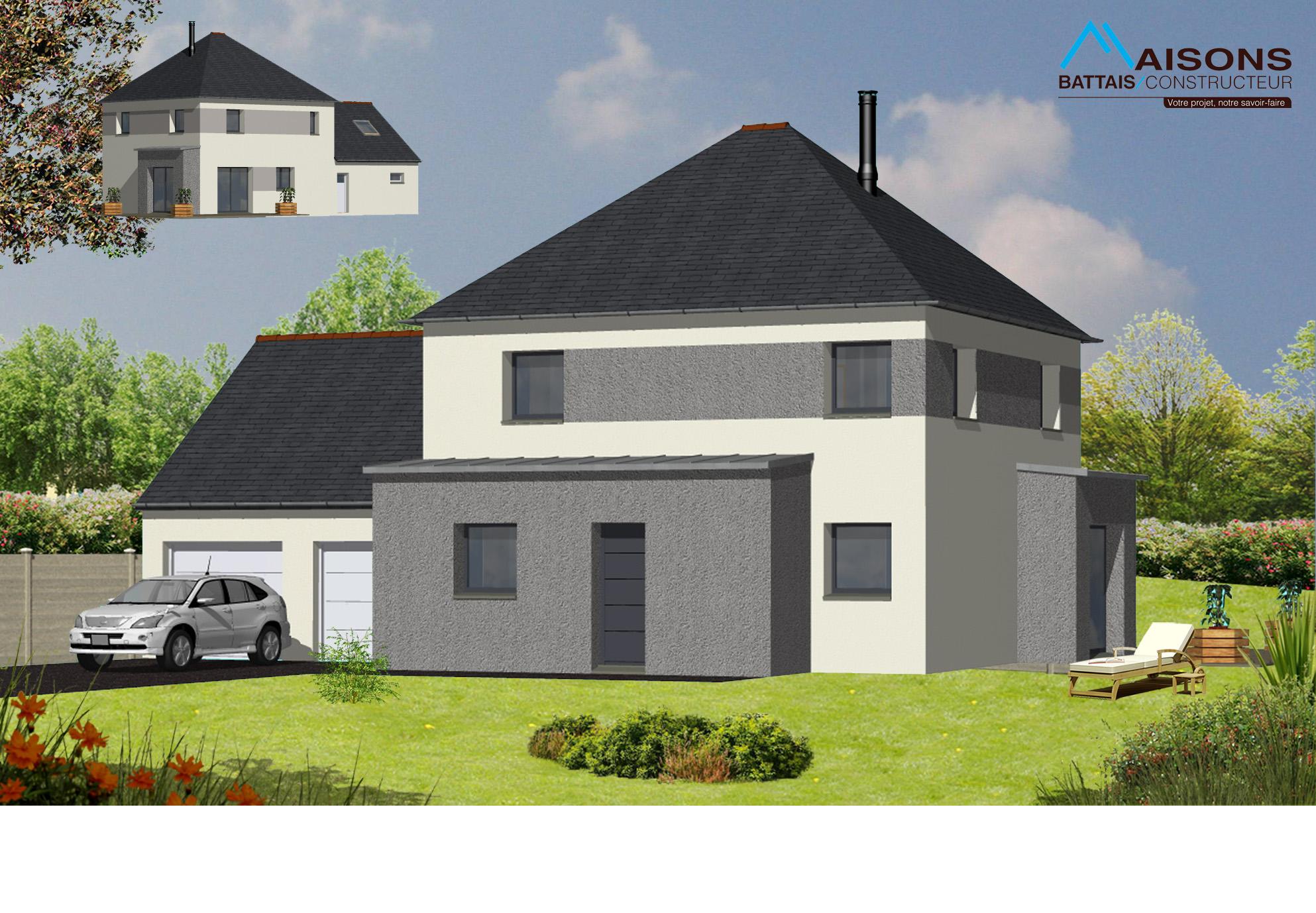 Constructeur de maison individuelle et moderne en ille et for Constructeur maison 64