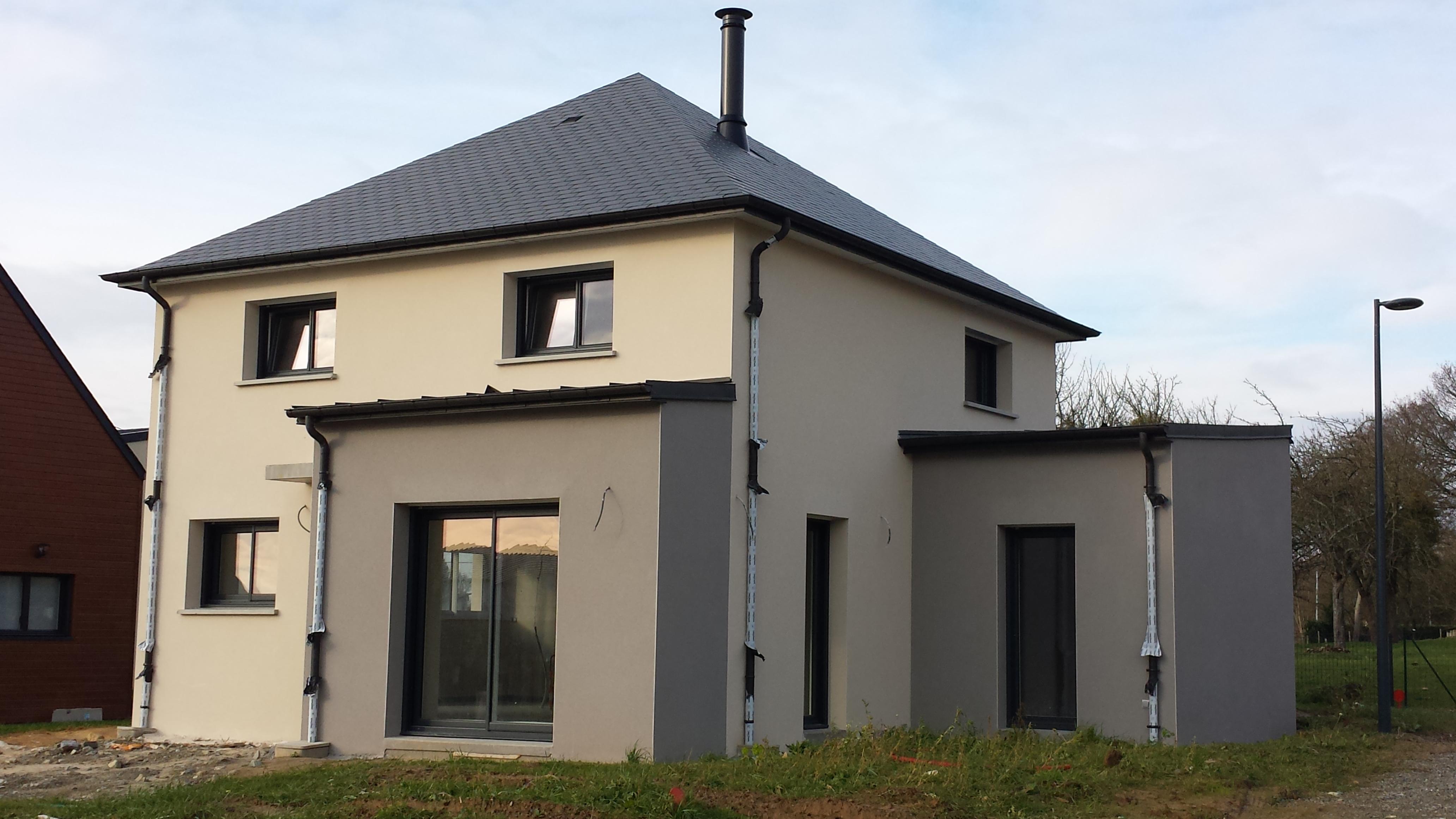 Construction maison moderne en ille et vilaine battais 35 for Prix materiaux construction maison