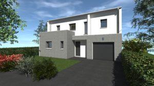 Maisons Battais construction maison 35 BAIN DE BRETAGNE 1 Contemporaine Spacieuse Moderne Espace Exposition Personnailsable Design 740