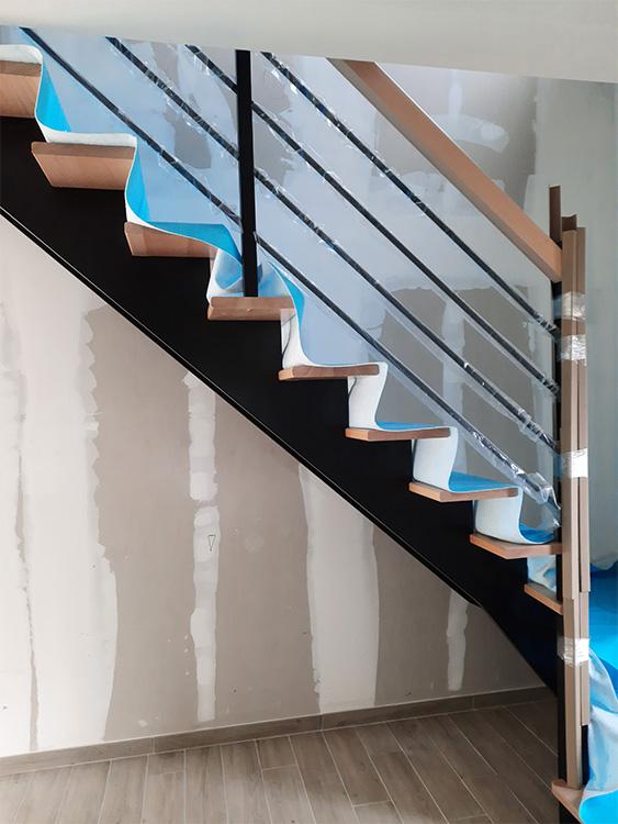 JPB MAISON BATTAIS Agrandissement De Maison 35 Escalier 1