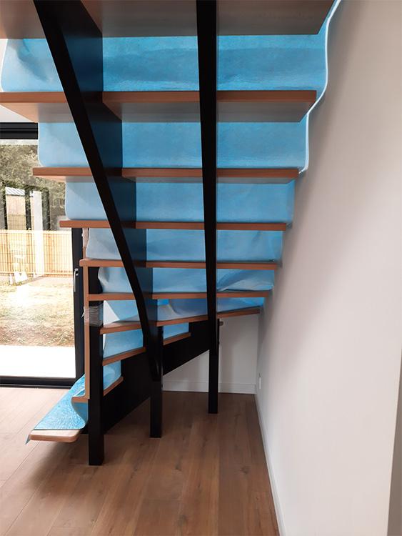 JPB MAISON BATTAIS Agrandissement De Maison 35 Escalier 3