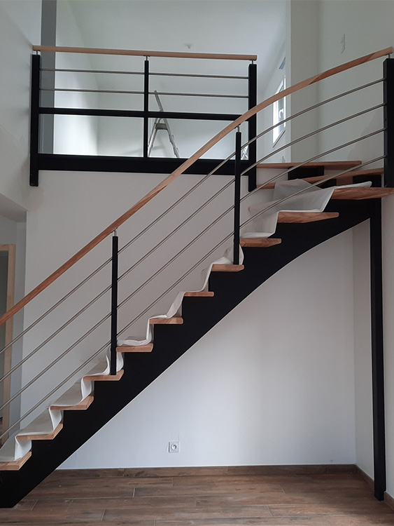 JPB MAISON BATTAIS Agrandissement De Maison 35 Escalier 5