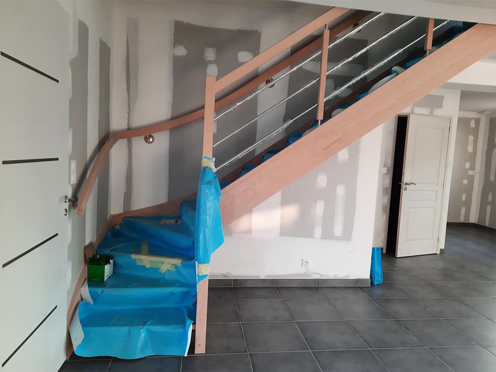 JPB MAISON BATTAIS Agrandissement De Maison 35 Escalier 6