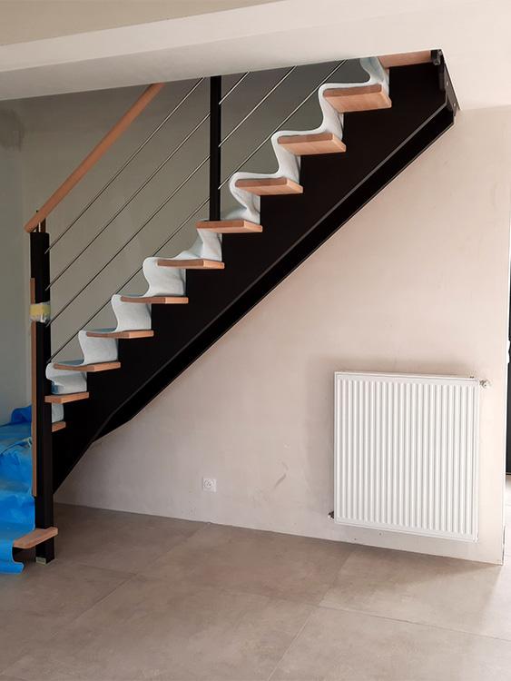 JPB MAISON BATTAIS Agrandissement De Maison 35 Escalier 7